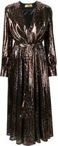 MSGM Leopard-Print Sequinned Dress