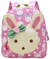Greeniris 3D Cute Rabbit Backpack Kids School Bag Baby Girl Daypack for School/Kindergarten/Daily