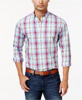 Club Room Men's Plaid Long-Sleeve Shirt