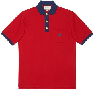 Gucci Cotton polo with Interlocking G patch