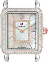 Michele Women's Deco II Mid Diamond Rose Gold Diamond Dial Watch