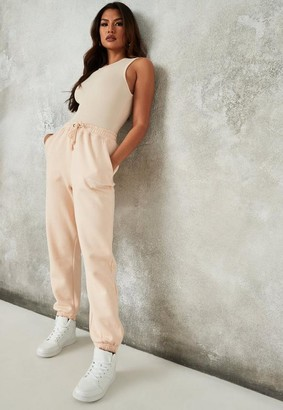 Missguided Peach Oversized 90S Joggers