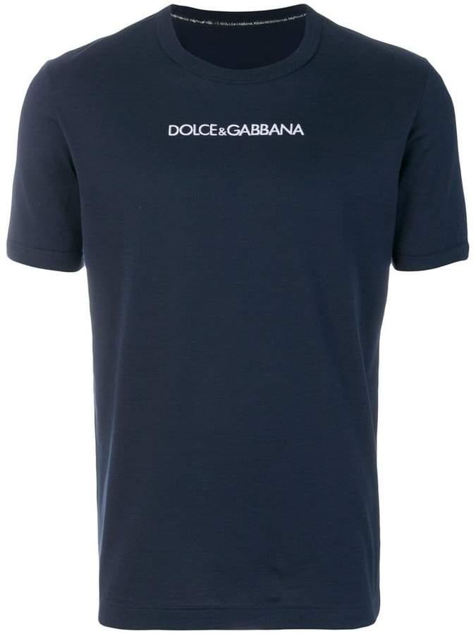 Dolce & Gabbana chest slogan T-shirt
