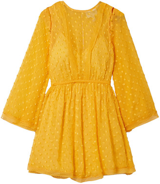 Alice McCall Gidget Lace-trimmed Fil Coupe Silk-blend Chiffon Mini Dress