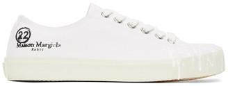 Maison Margiela White Canvas Pollock Tabi Sneakers