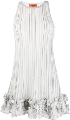 Missoni Striped Ruffled-Hem Dress