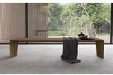 Modloft Soho Bench Black Color: Walnut