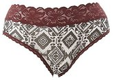 Charlotte Russe Plus Size Floral Print Lace Cheeky Panties