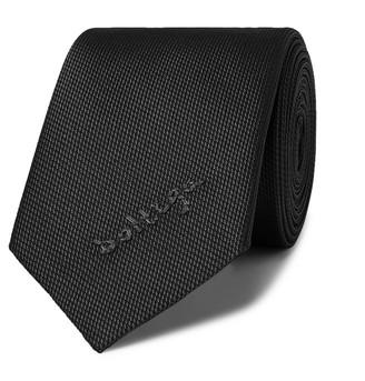Bottega Veneta 5.5cm Logo-Embroidered Textured-Silk Tie