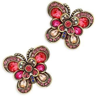 Heidi Daus Multi-Color Rhinestone Butterfly Stud Earrings