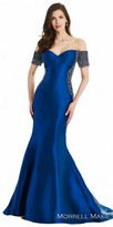 Morrell Maxie Off the Shoulder Mikado Beaded Evening Dress