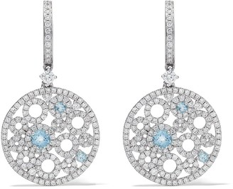 Kiki McDonough 18kt white gold Bubbles round-cut blue topaz and diamond earrings