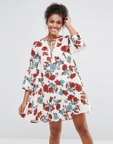 Glamorous Floral Tie Neck Dress
