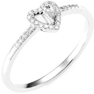 Meira T Heart 14K White Gold & Diamond Ring