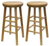 Winsome Wood 24-Inch Swivel Seat Barstool with Finish, Set of 2