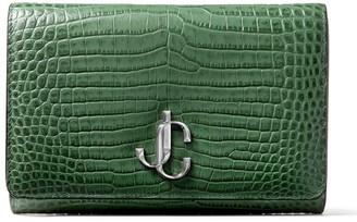 Jimmy Choo Croc-Embossed Varenne Clutch Bag