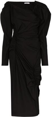 REJINA PYO Andi asymmetric neck midi dress