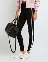 Charlotte Russe Piped High-Rise Ponte Leggings