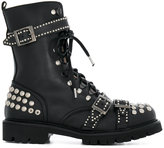 Christian Pellizzari studded lace up boots