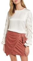 Tularosa Women's Lexi Ruched Sleeve Top