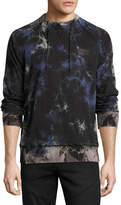 PRPS Multi-Stained Raglan Sweatshirt, Black