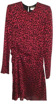 Saint Laurent Red Silk Skirt for Women
