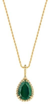 Boucheron Serpent Boheme 18K Yellow Gold & Malachite Pendant Necklace