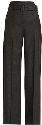 Theory High-Waist Belted Trousers