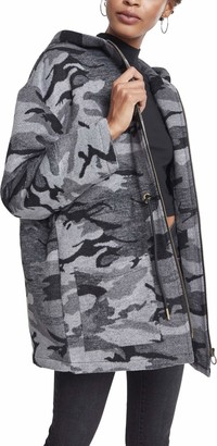 Urban Classics Women's Ladies Oversize Camo Parka Coat