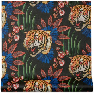 Gucci Tiger Leaf print wallpaper