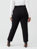 V By Very Curve Tie Waist Tapered Trouser - Black