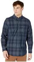 Ben Sherman Long Sleeve Cord Plaid Shirt (Navy) Men's Clothing