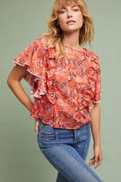 Anthropologie Coralie Ruffled Blouse