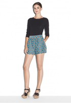 Milly Geometric Jacquard Pleated Short