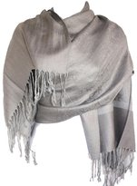 Silver Fever® Silver Fever Jacquard Paisley Pashmina Shawl Scarf Stole
