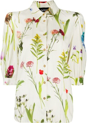 Boutique Moschino Floral-Print Short-Sleeved Shirt