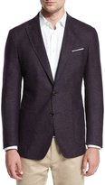 Peter Millar Alpine Tweed Soft Sport Coat, Spiced Plum