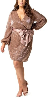 Forever New Curve Frieda Curve Sequin Mini Dress