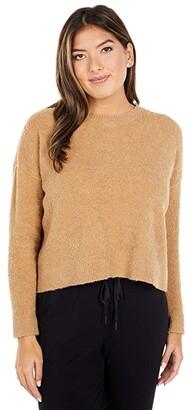 Eileen Fisher Petite Organic Cotton Boucle Crew Neck Box Top (Honey) Women's Clothing