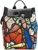 J.W.Anderson church window print backpack