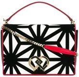 DSQUARED2 large 'DD' shoulder bag - women - Leather/Velvet - One Size