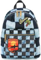 Marc Jacobs Biker denim patchwork backpack - women - Cotton/Polyester/Leather - One Size