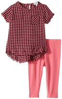 Splendid Littles Yarn-Dyed Plaid Swing Top with Leggings Set Girl's Active Sets