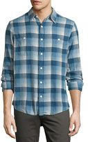 Faherty Seasons Plaid-Print Work Shirt, Indigo