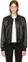 Rag & Bone Black Leather Cooper Bomber Jacket
