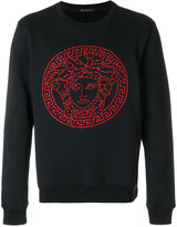 Versace Medusa embellished sweatshirt