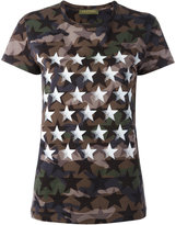 Valentino camouflage and star print T-shirt - women - Cotton - S