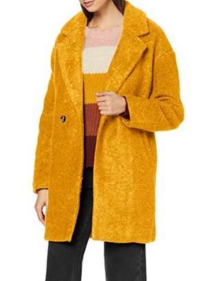 Only Women's Onlnina Celeste Wool Coat OTW Cadmium Yellow, (Size: Medium)