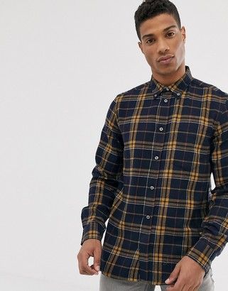 French Connection multi flannel check shirt-Navy