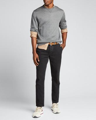 Brunello Cucinelli Men's Silk-Blend Sweatshirt